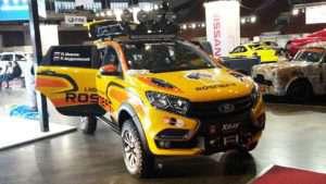 """Внедорожная версия Lada xRay на выставке """"Мир автомобиля"""""""