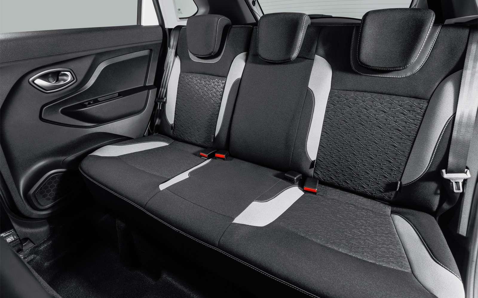заднее сиденье пассажиров